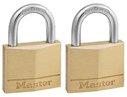 Master Lock 140T Solid Brass Keyed Alike Padlock